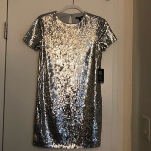 express mini sequin dress
